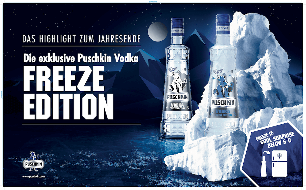 Sonderedition der Firma Berenzen - Puskin Vodka
